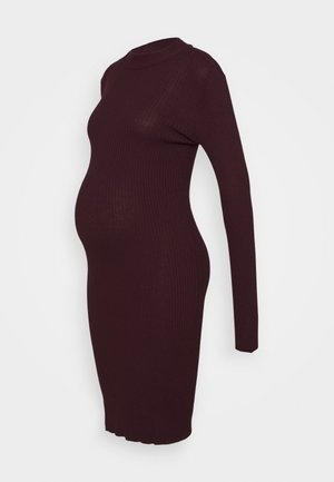KNIT DRESS maternity - Fodralklänning - syrah