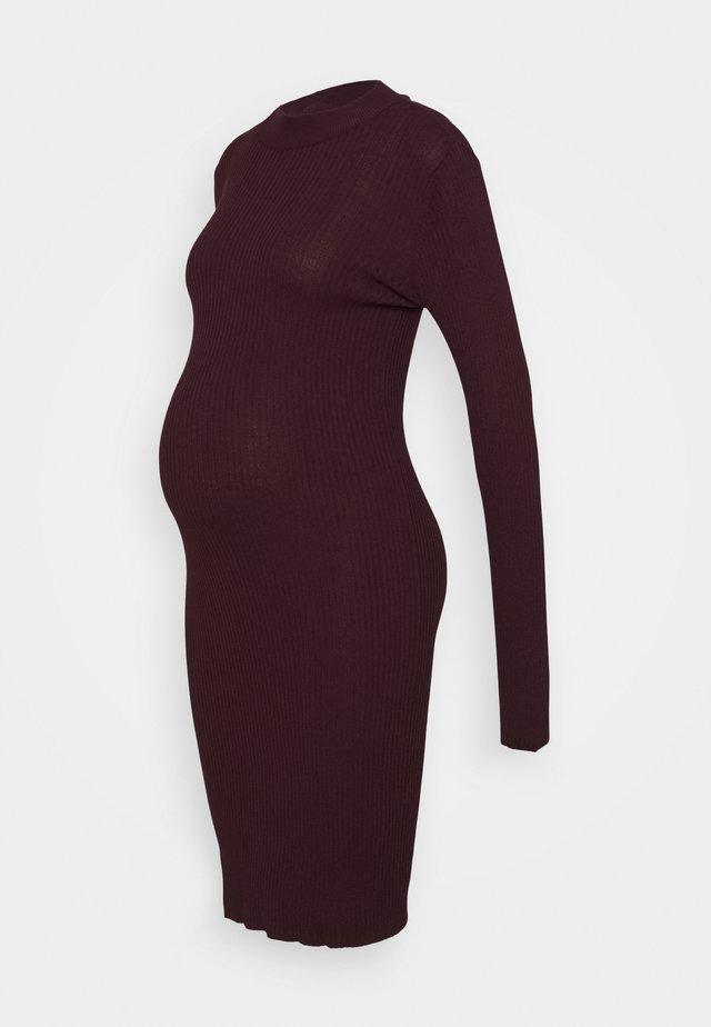 KNIT DRESS maternity - Fodralklänning - syrah