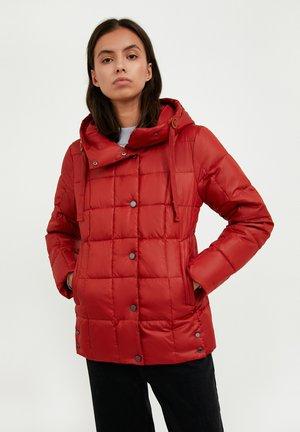 Winter jacket - red-brown