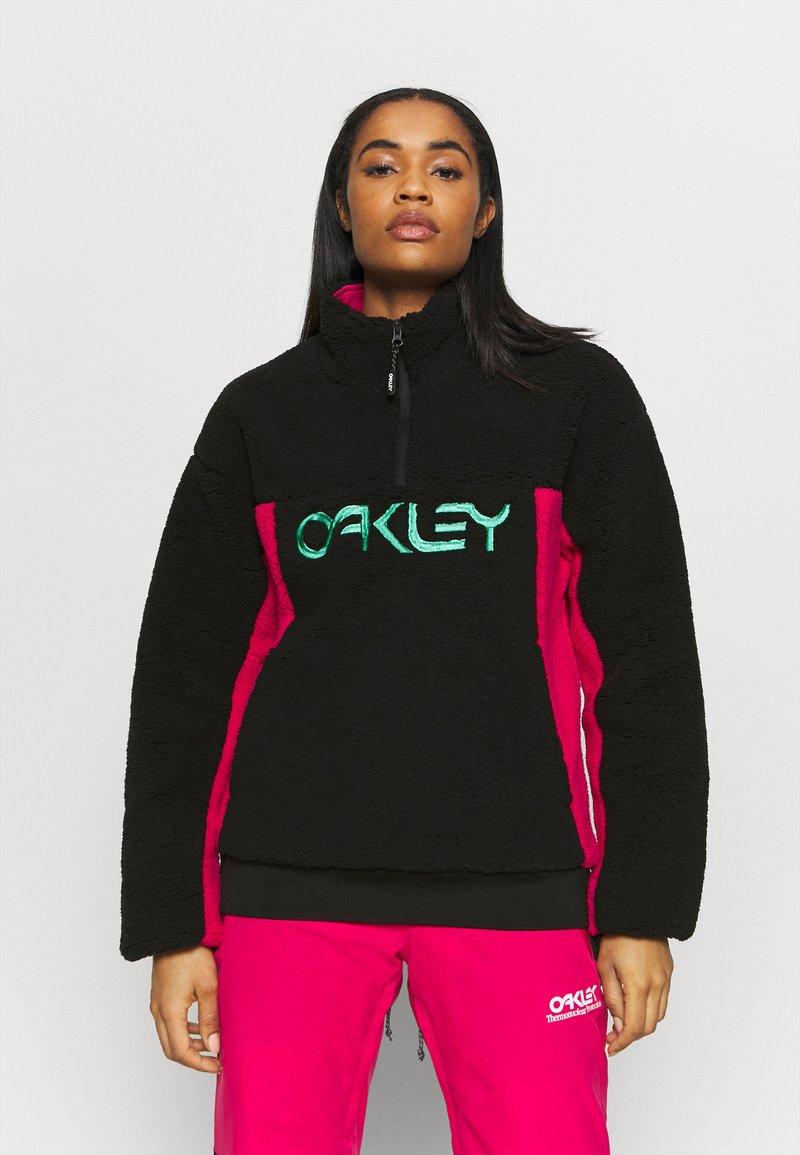Oakley - WOMENS - Fleece jumper - black/rubine