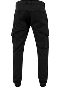 Urban Classics - WASHED CARGO  - Cargo trousers - black - 1