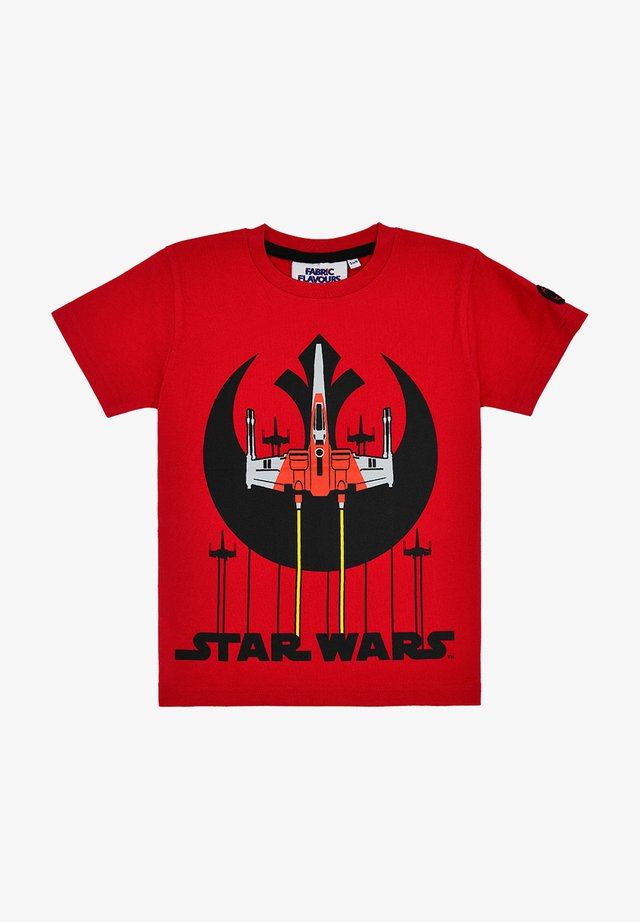 STAR WARS REBEL SQUADRON TEE - Print T-shirt - red