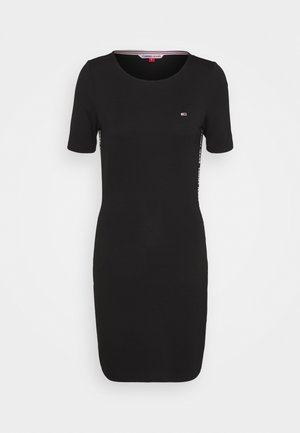 BODYCON TAPE DRESS - Jersey dress - black
