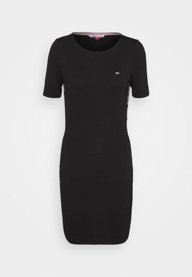 BODYCON TAPE DRESS - Vestito di maglina - black