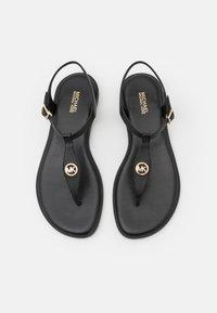 MICHAEL Michael Kors - MALLORY THONG - T-bar sandals - black - 4