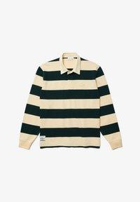 Lacoste - Polo shirt - beige / vert fonce / beige - 4