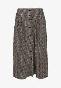 Minus - JASMINA  - A-line skirt - shadow dot steel grey print - 3