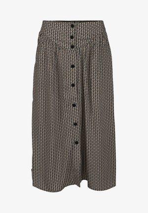 JASMINA  - A-line skirt - shadow dot steel grey print