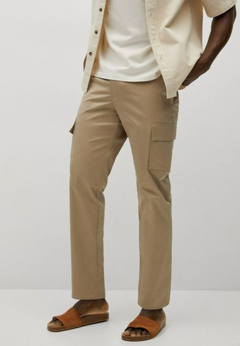 CROPPED  - Cargo trousers - beige