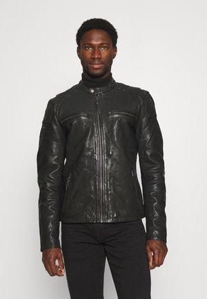 MOTO RACER JACKET - Leather jacket - black