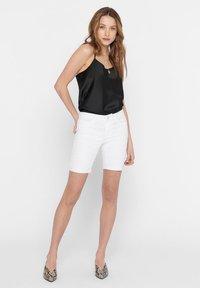 ONLY - Short en jean - white - 1