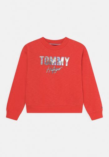 SCRIPT - Sweater - daring scarlet