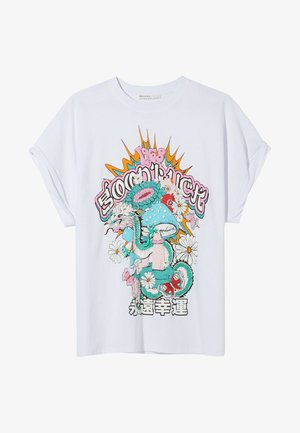 MIT DRACHENPRINT - Print T-shirt - white