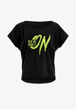 MCT002 ULTRA LIGHT  - Print T-shirt - black/glitter/neon yellow