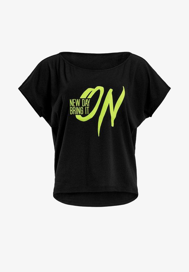 MCT002 ULTRA LIGHT  - T-shirt print - black/glitter/neon yellow