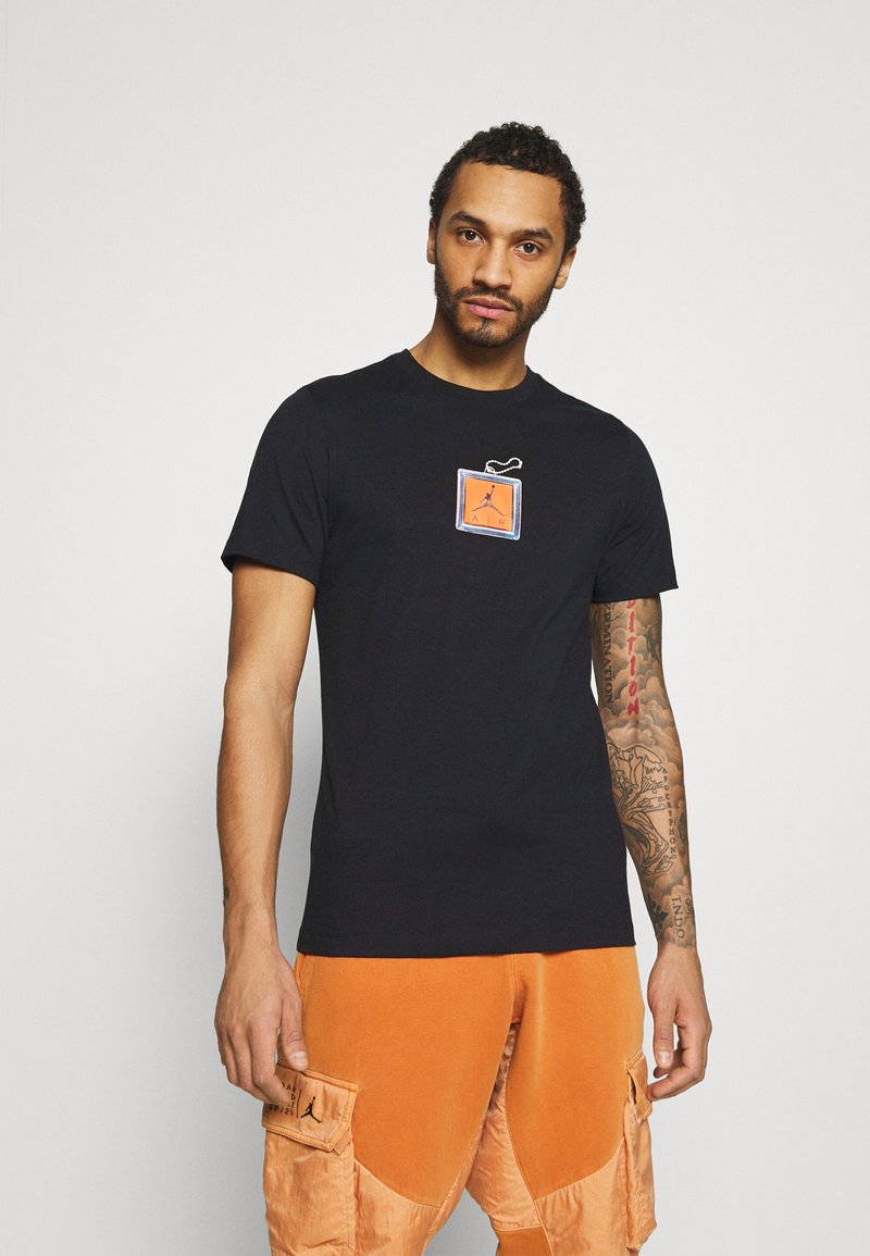 Jordan - KEYCHAIN CREW - T-shirt med print - black