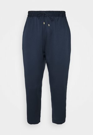 ELASTICATED WAIST TROUSERS - Trousers - navy