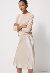 someday. - A-line skirt - beige - 2
