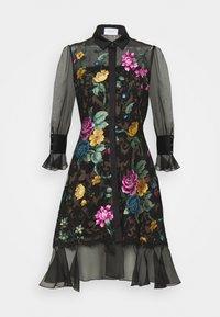 Marchesa - DAMASK DRESS - Koktejlové šaty/ šaty na párty - black - 7