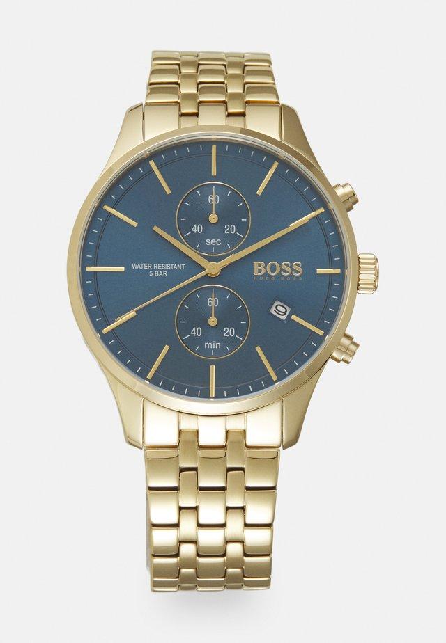 ASSOCIATE - Kronograf - gold-coloured/blue