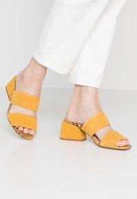 Steve Madden - KELINE - Heeled mules - yellow - 0