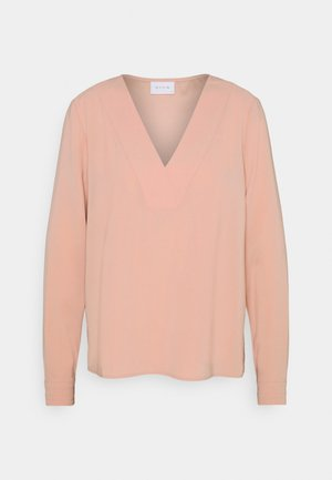 VILAIA V NECK - Blus - misty rose