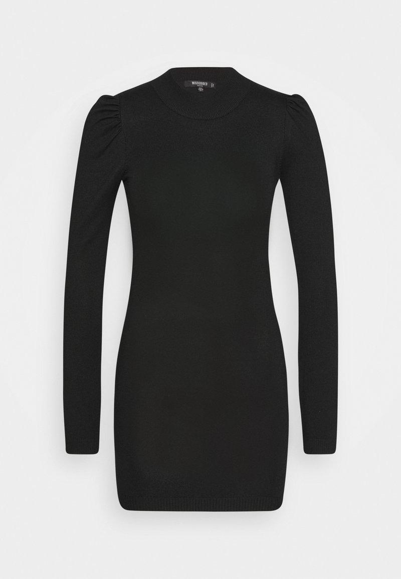 Missguided Petite - PUFF SLEEVE MINI DRESS - Etuikjole - black