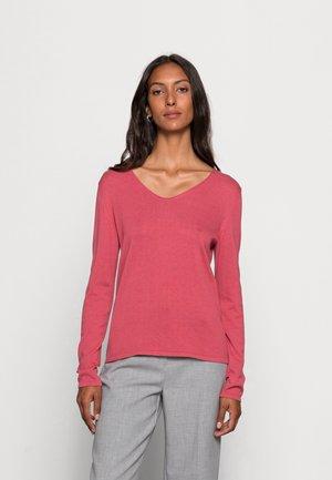 BASIC V-NECK - Pullover - cozy pink