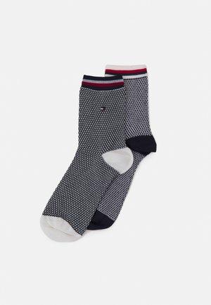 WOMEN SHORT SOCK COLLEGIATE HONEYCOMBI 2 PACK - Socks - navy