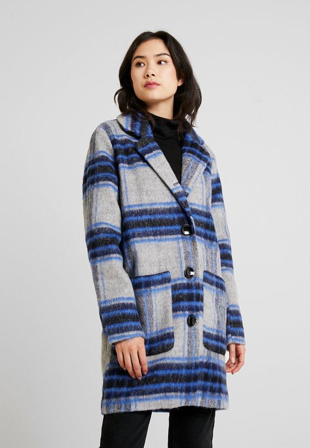 Krátký kabát - light grey melange mix