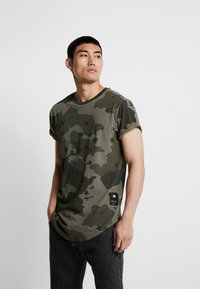 G-Star - SWANDO RELAXED RT S/S - Print T-shirt - dark shamrock - 0
