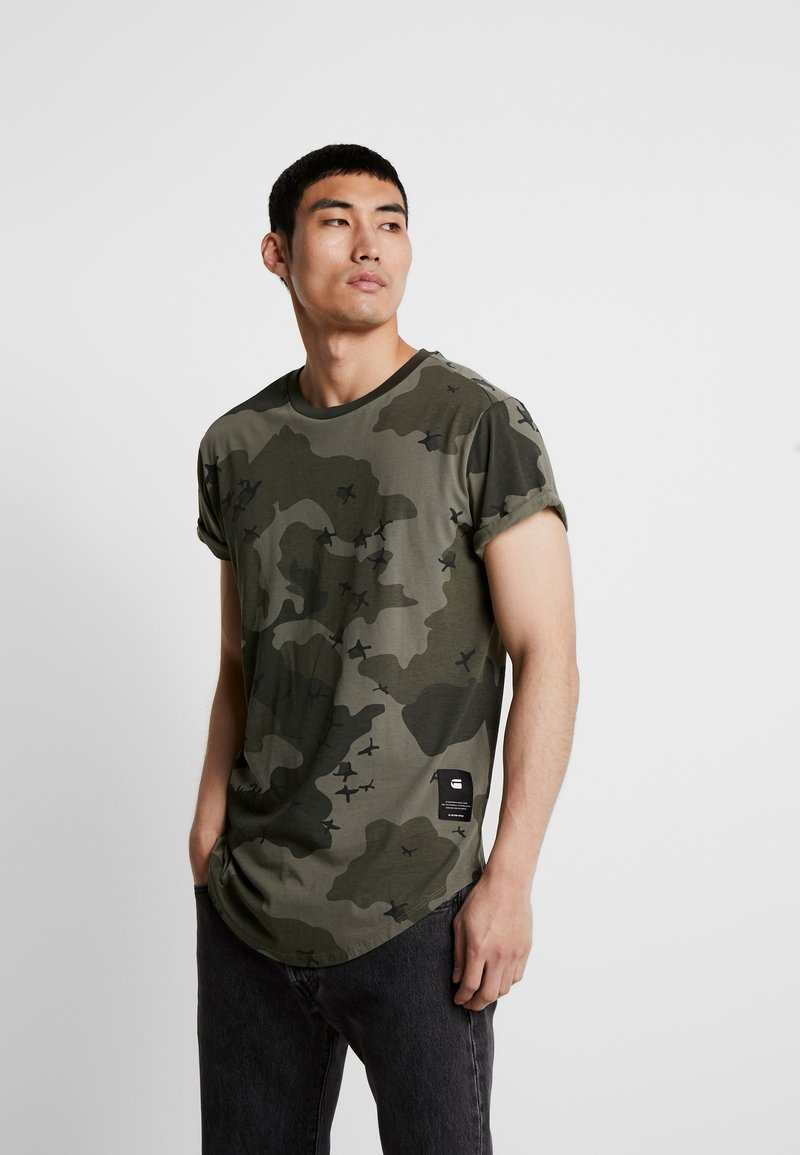 G-Star - SWANDO RELAXED RT S/S - Print T-shirt - dark shamrock