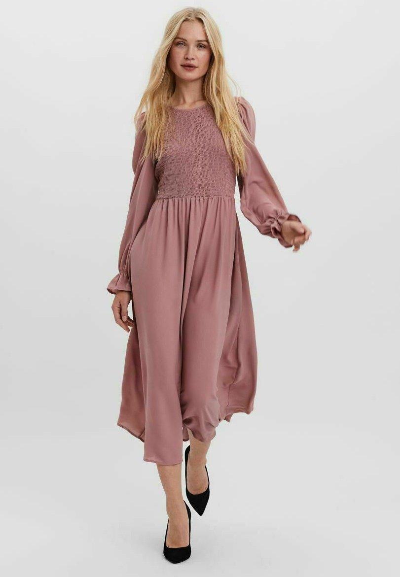 Damen Gesmoktes - Jerseykleid
