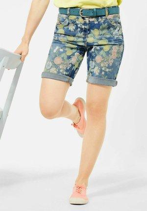 LOOSE FIT  - Denim shorts - blau