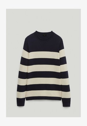 Strickpullover - blue-black denim