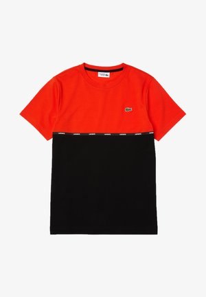 Print T-shirt - rot / schwarz / schwarz