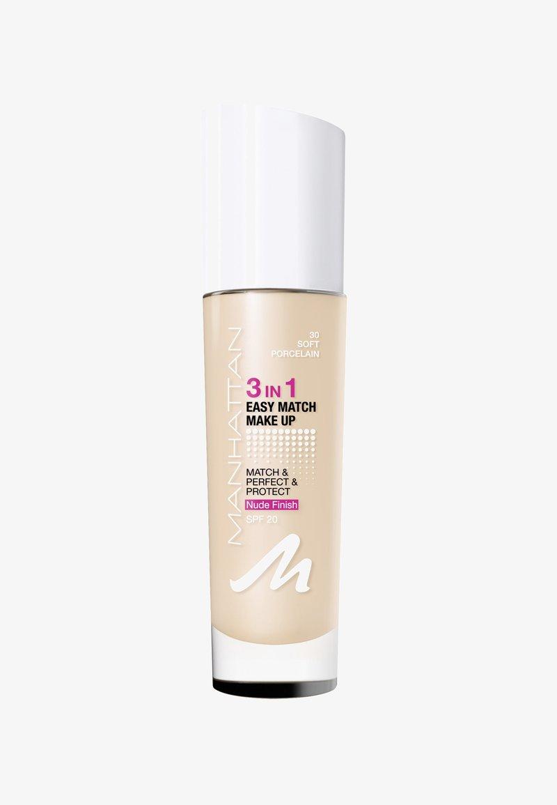 Manhattan Cosmetics - 3IN1 EASY MATCH MAKE UP - Foundation - 30 soft porcelain