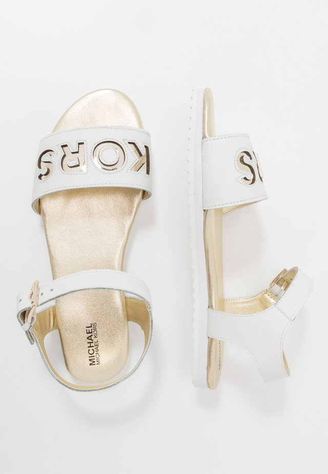 ZIA PEEK - Sandals - white/gold