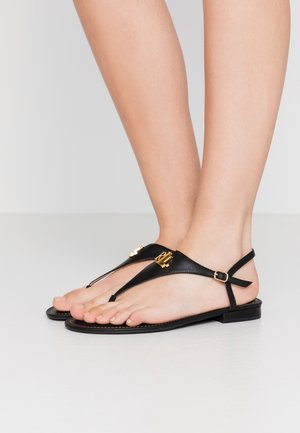 BURNISHED ELLINGTON - Sandalias de dedo - black