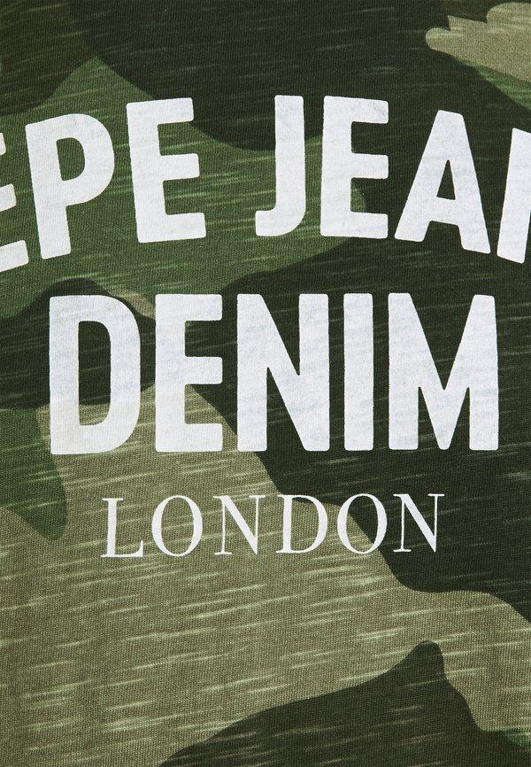 Pepe Jeans ANDY - T-shirt z nadrukiem - forest green/oliwkowy Odzież Męska ZKEQ