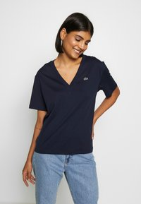 Lacoste - T-shirt basique - navy blue - 0