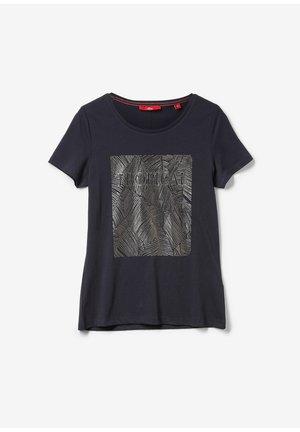 Print T-shirt - navy placed print