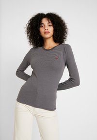 Levi's® - LS BABY TEE - T-shirt à manches longues - agnes/forged iron - 0