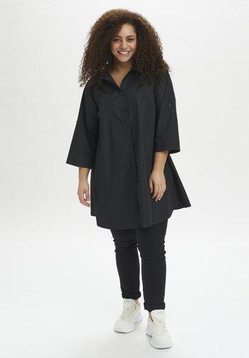 3/4 SLEEVE - Button-down blouse - black deep
