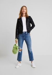 Noisy May - Faux leather jacket - black - 1