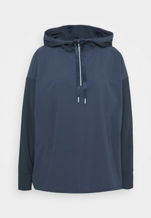 PERFORATED HOODIE LAYER - Training jacket - crew navy