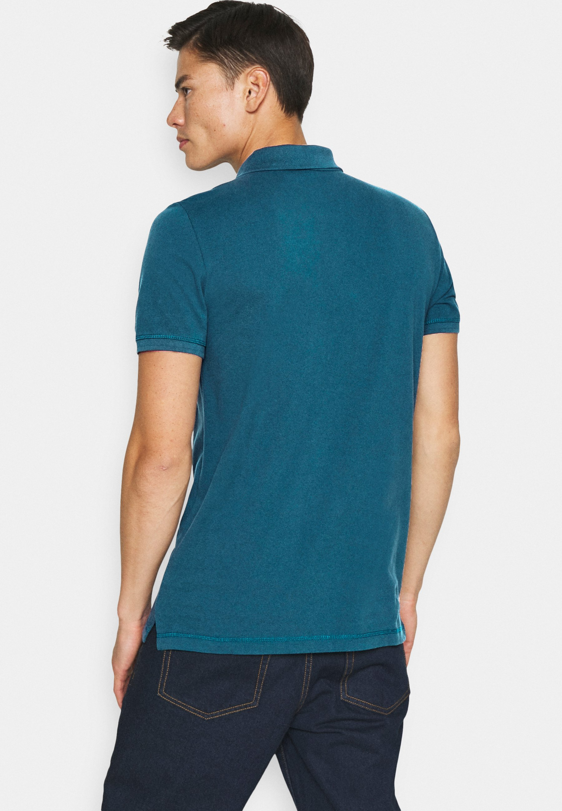 Mustang Polo shirt - blue 3z8st