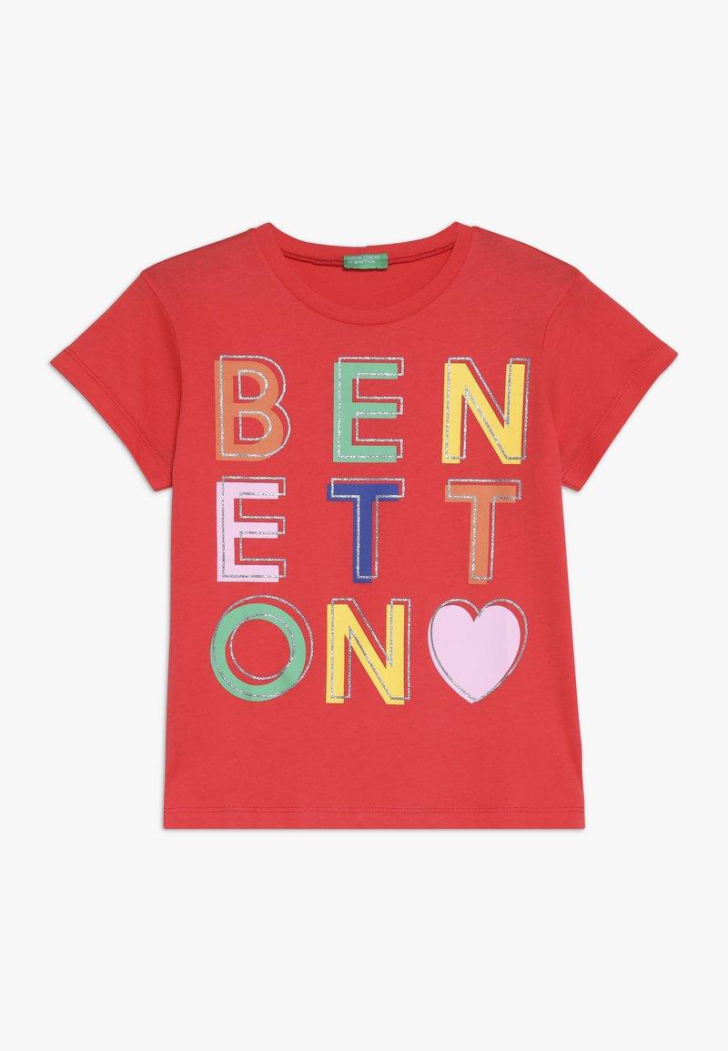 Benetton - Triko spotiskem - red