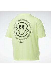 Reebok - RUN ESSENTIALS SHORT SLEEVE GRAPHIC T-SHIRT - T-shirts med print - yellow - 6