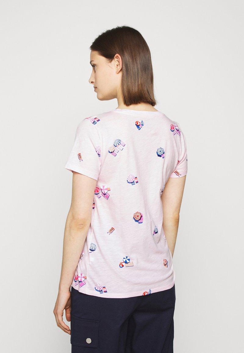 J.CREW - BEACH CHAIR ALLOVER PRINT TEE - T-shirt z nadrukiem - pink